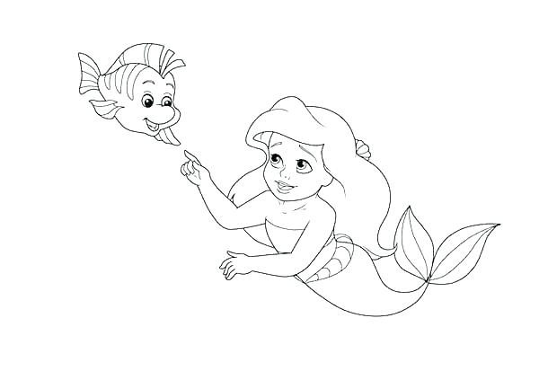 600x413 Ariel Printable Coloring Pages