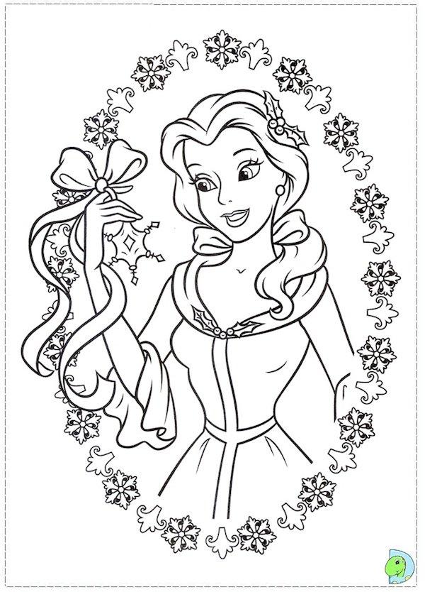 600x834 Christmas Coloring Pages Princess Disney Princess Christmas