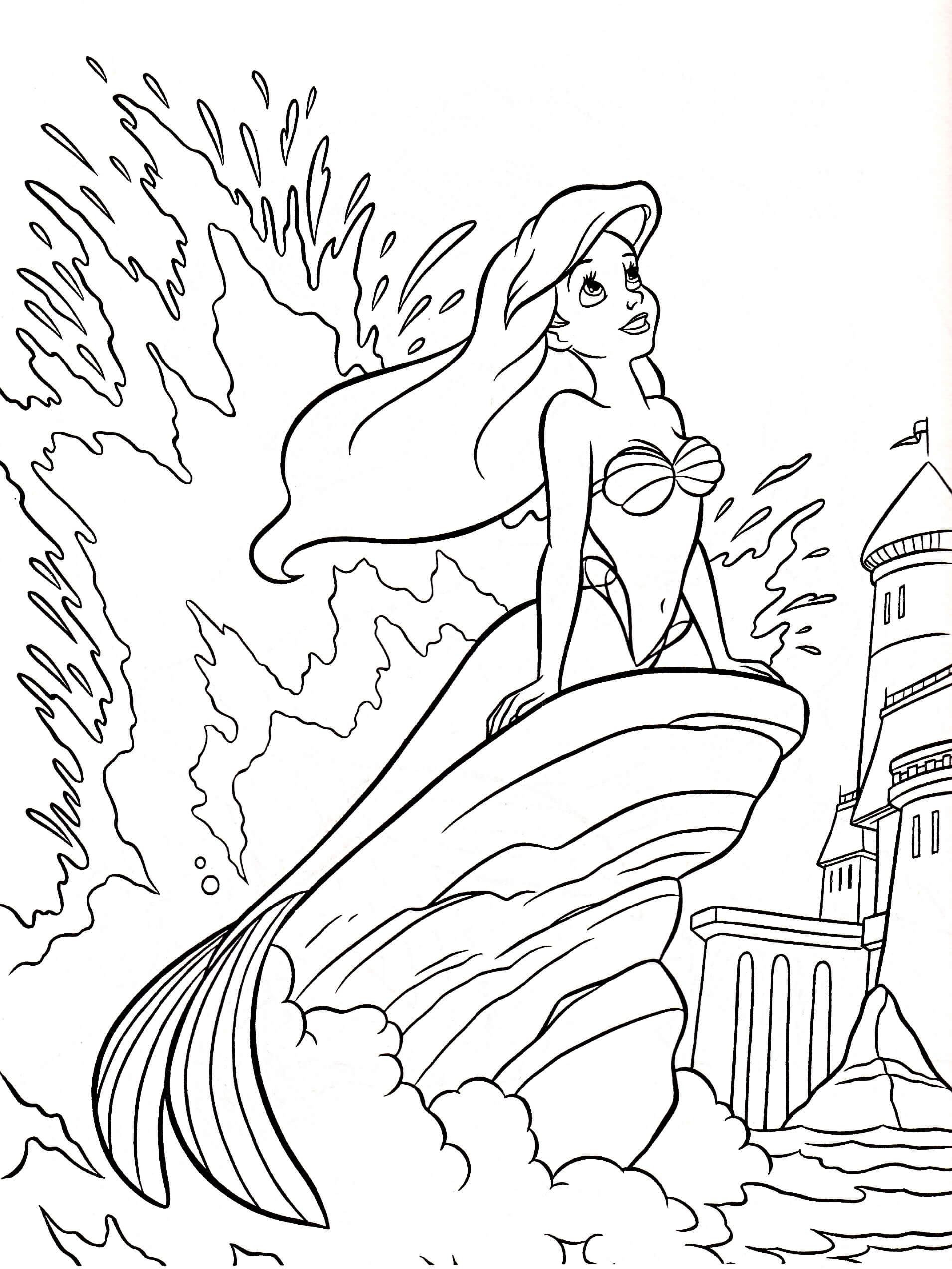 1910x2545 Disney Princess Christmas Coloring Sheets Free Printable Colouring