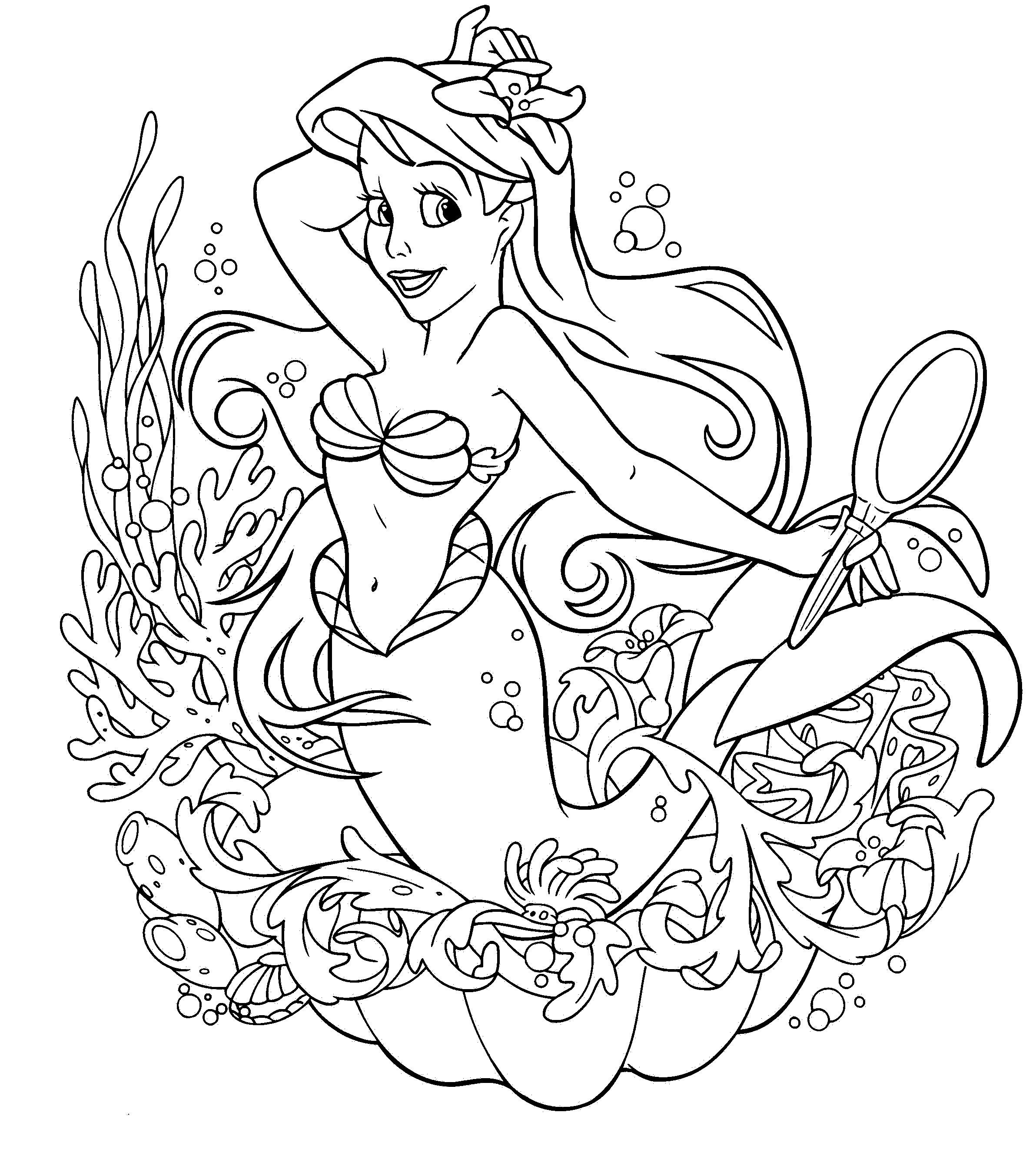 2384x2675 Fresh Coloring Pages Ariel