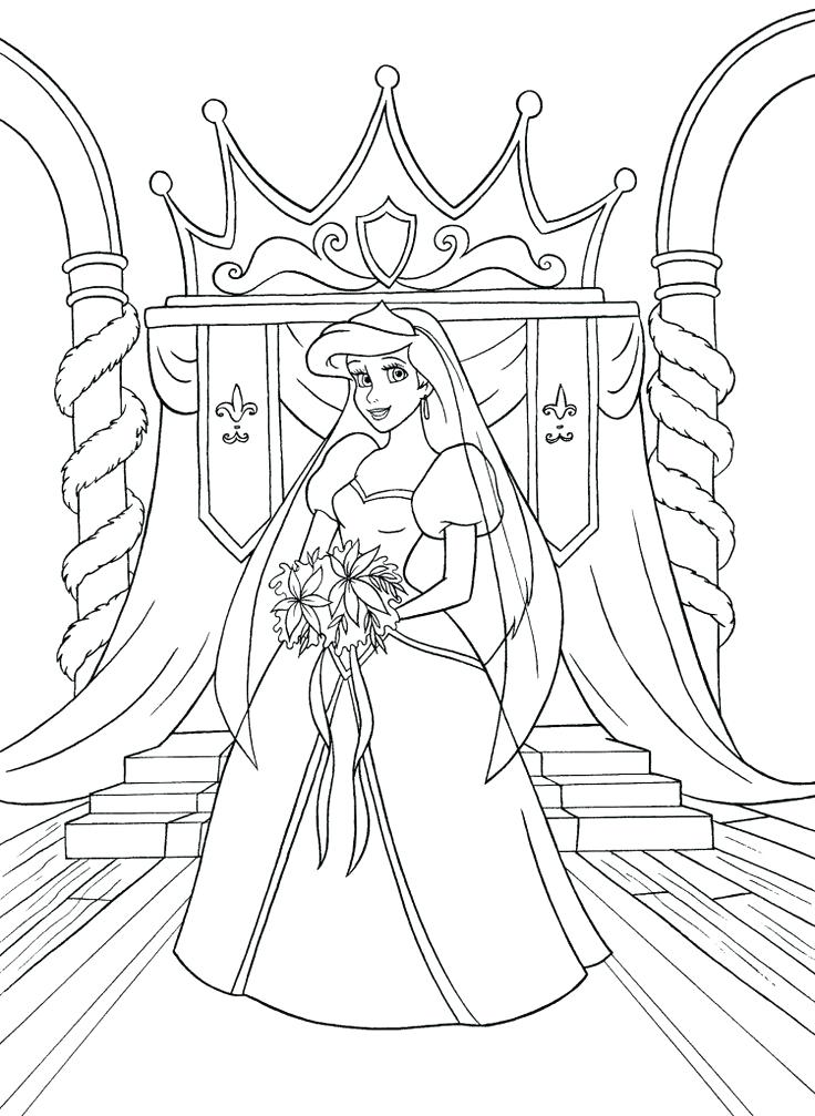 736x1007 Arial Coloring Pages And Seahorses Princess Ariel Christmas