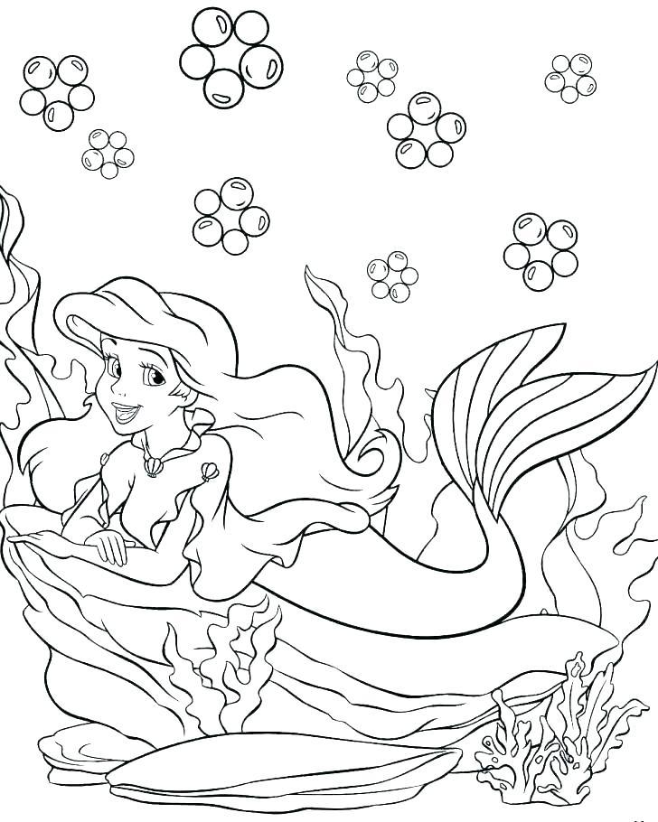 728x910 Ariel Princess Coloring Pages