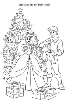 236x353 Ariel Coloring Pages For Christmas