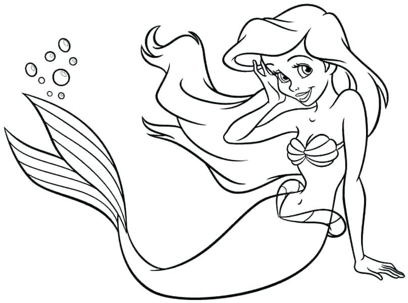 807x600 Princess Mermaid Coloring Pages Sad Fish Printable Underworld Fish