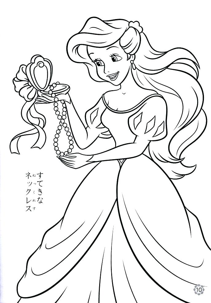 Ariel Coloring Pages Pdf