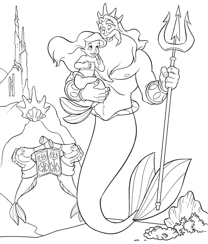 Ariel Mermaid Coloring Pages At Getdrawings Com Free For Personal