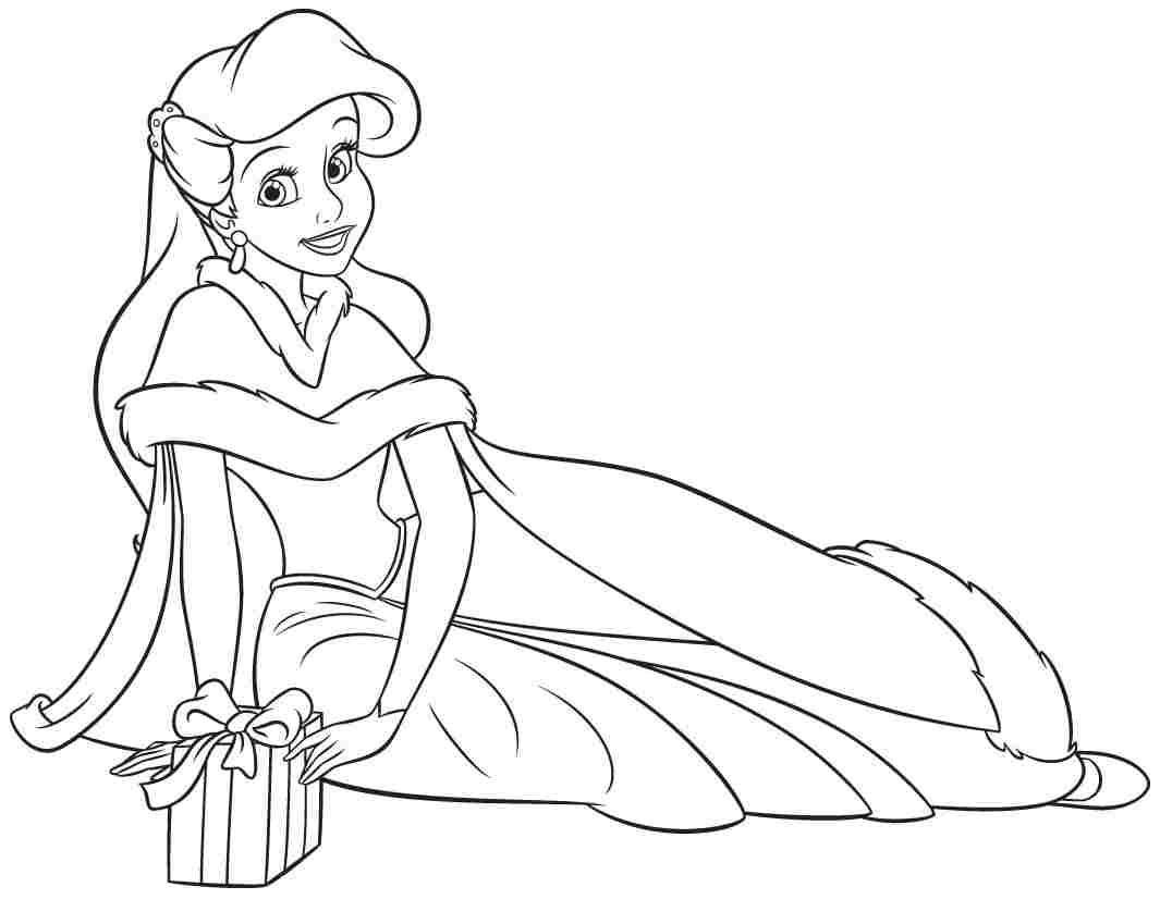 1065x826 Ariel Coloring Page Disney Princess Pages Printable Ribsvigyapan
