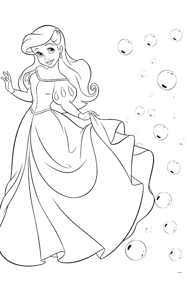 640x960 Ariel Mermaid Coloring Pages Coloring Picture Coloring Pictures
