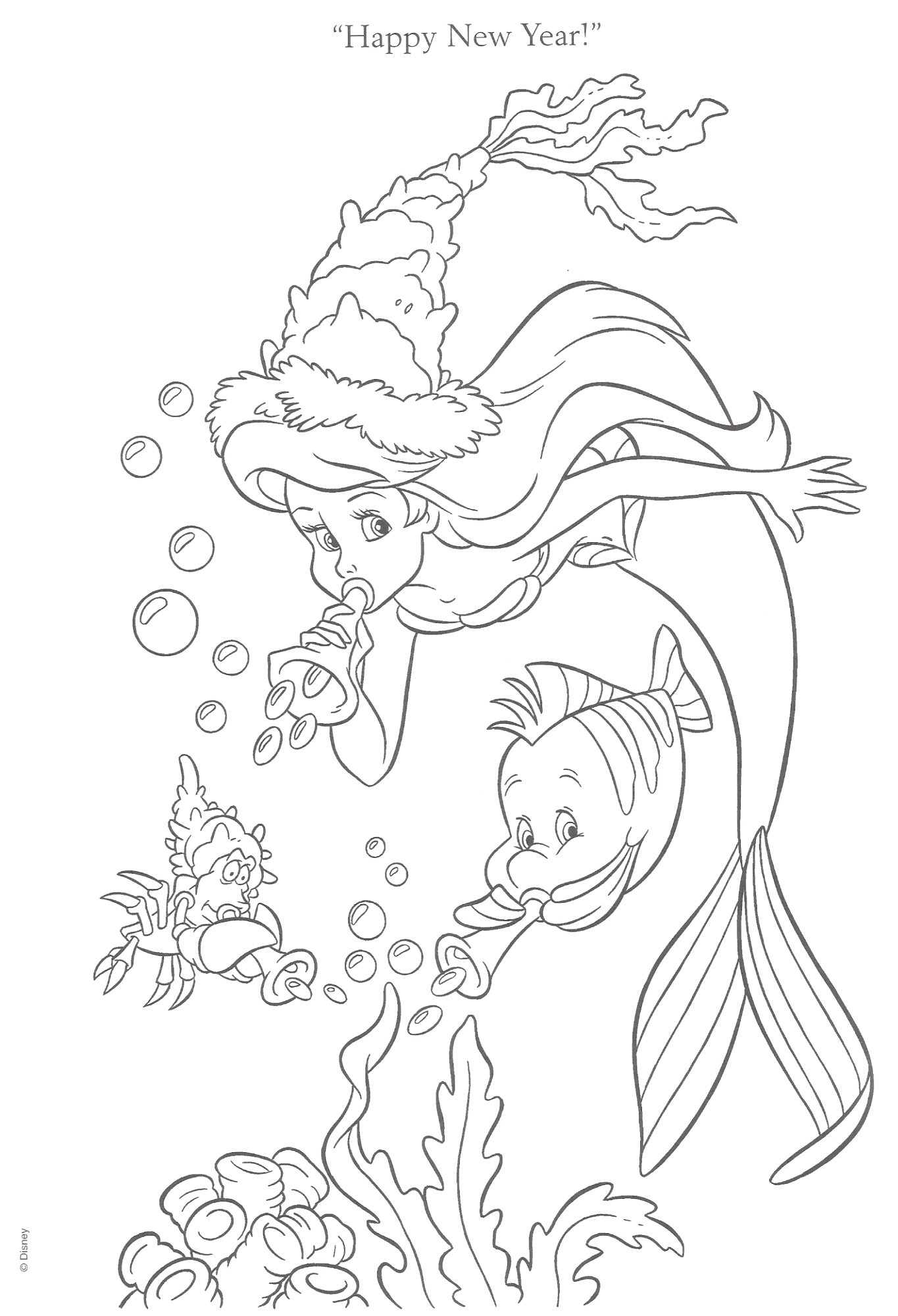 The Little Mermaid coloring pages | Print and Color.com | 2000x1365