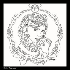 236x236 Free Printable Zodiac Adult Coloring Page Featuring Aries The Ram