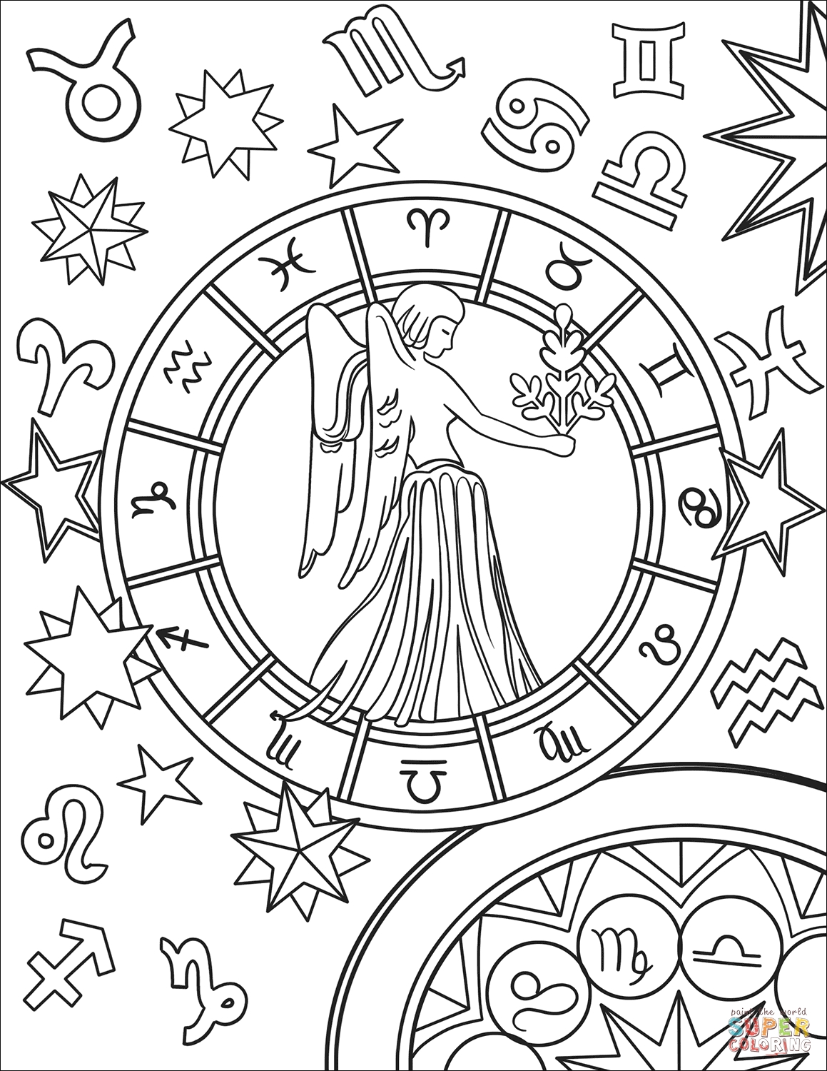 1159x1500 New Virgo Sigh Coloring Pages Collection Great Collection