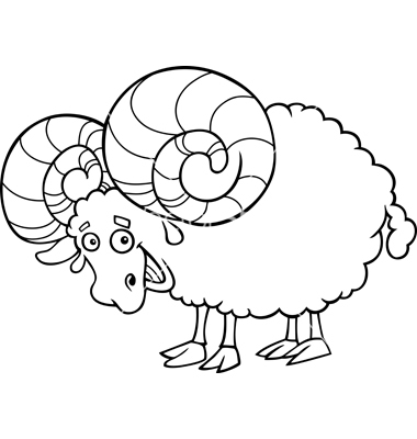 380x400 Ram Coloring Page
