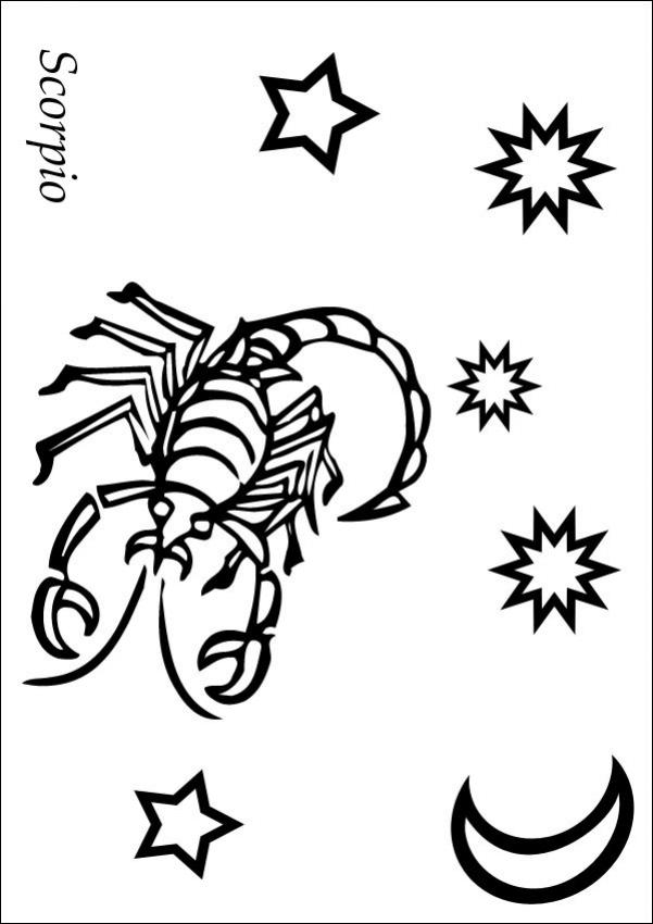601x850 Zodiac Coloring Pages