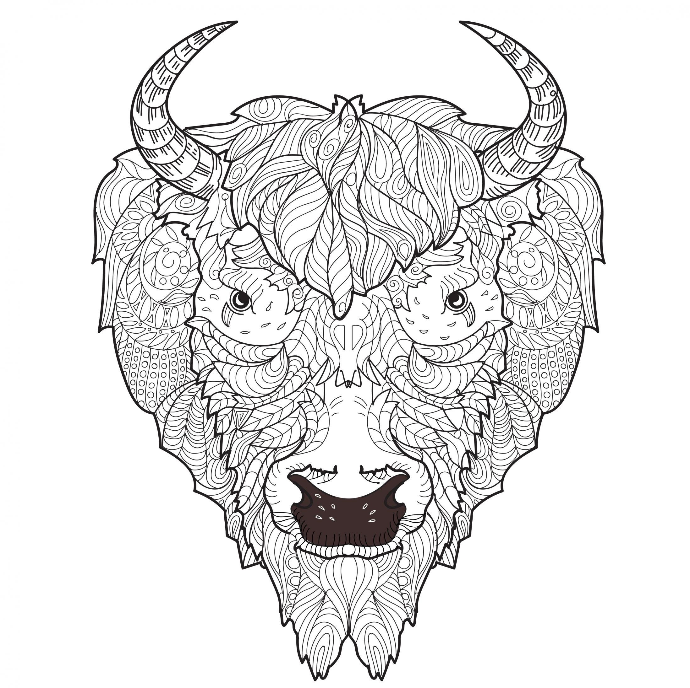 2196x2192 Adult Coloring Pages Bison Coloring Pages Adult