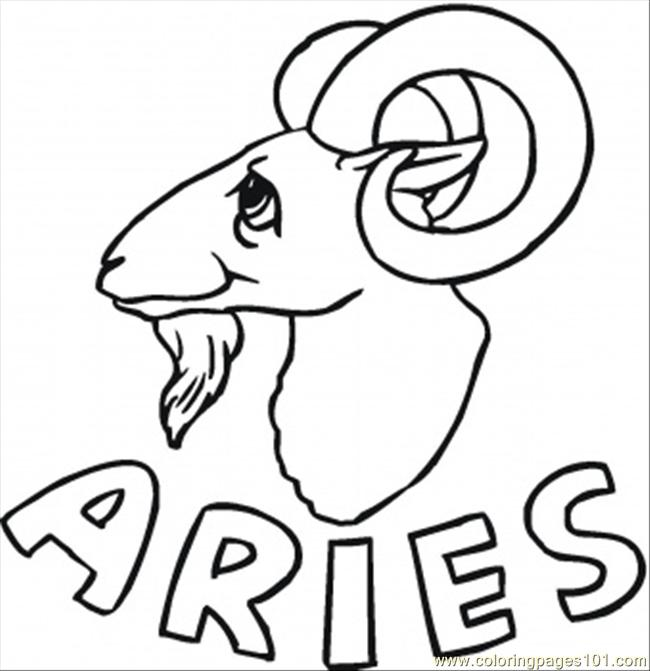 650x671 Aries Coloring Page
