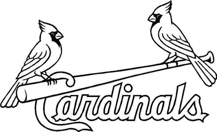 736x449 St Louis Cardinals Coloring Pages