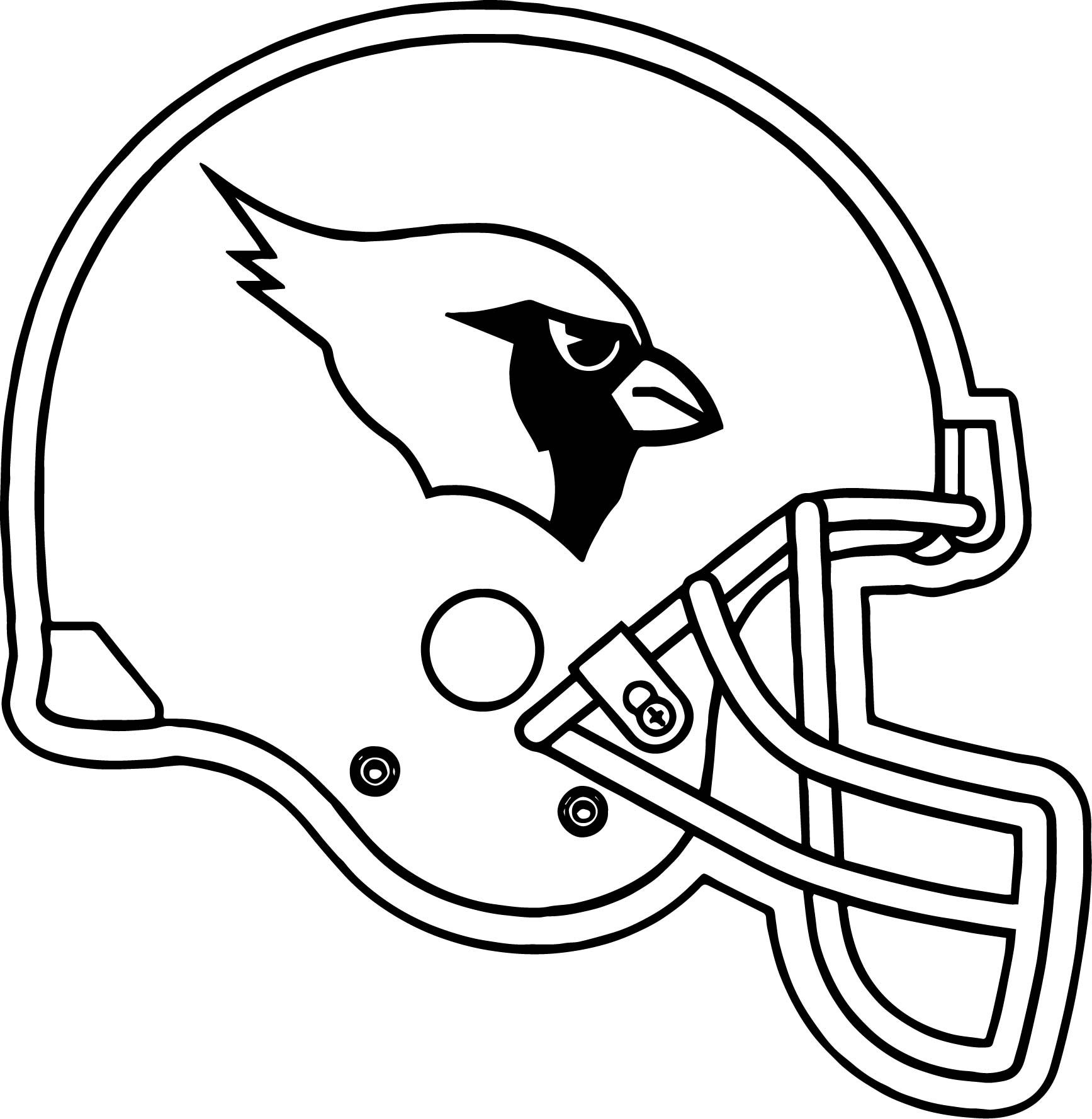1735x1777 Arizona Cardinals Helmet Coloring Page