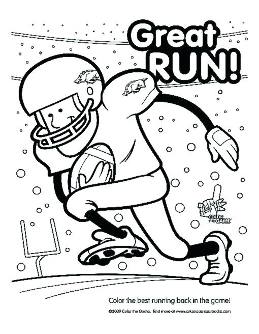 510x656 Arkansas Coloring Pages Coloring Pages Great Run Football Coloring