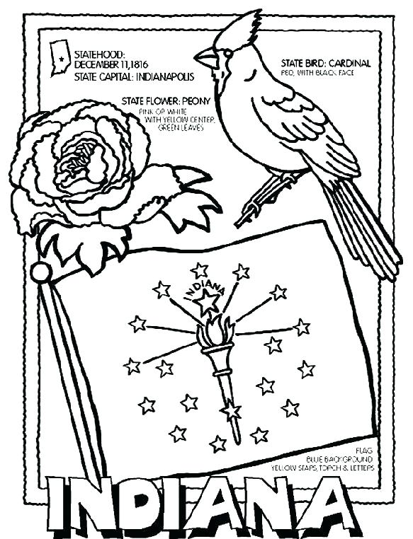 583x762 Arkansas Coloring Pages Flag Coloring Page State Flag Coloring