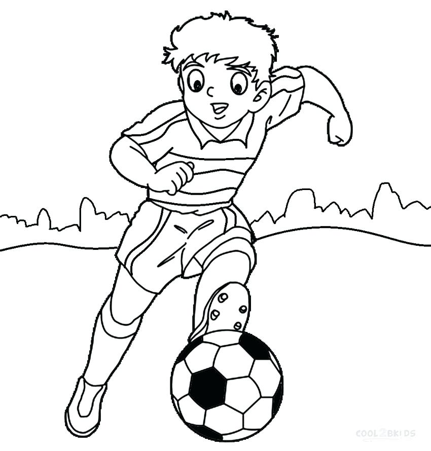 850x890 Arkansas Coloring Pages Kid Football Player Coloring Page