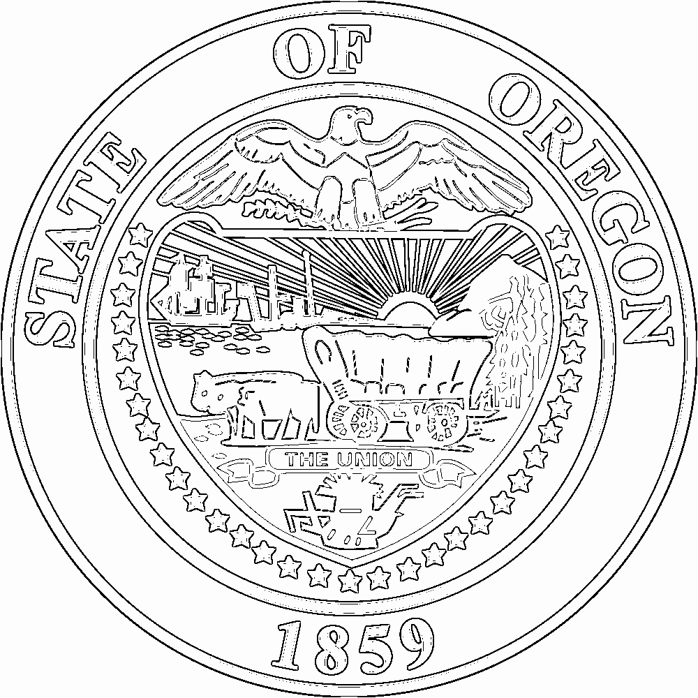 The best free Oregon coloring page images. Download from 86 ...