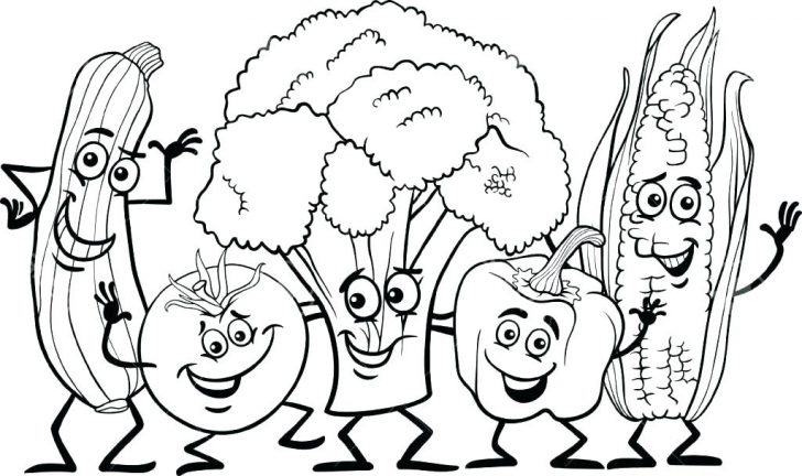 728x432 Snack Food Coloring Pages