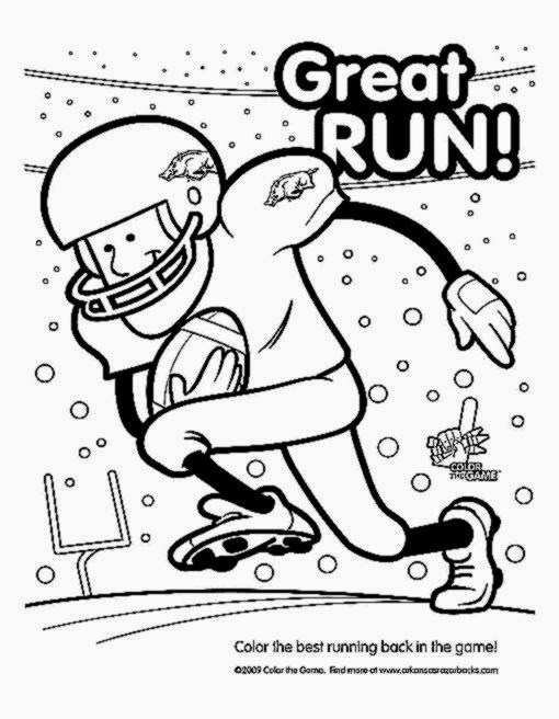 510x656 Football Coloring Pages Free Sports Coloring