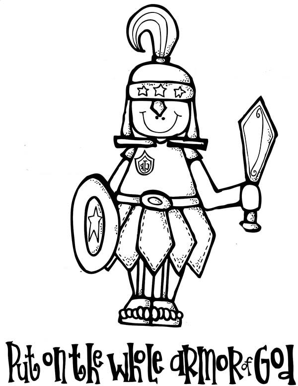 600x777 Armor Of God Coloring Pages Put On The Whole Armor Of God Coloring