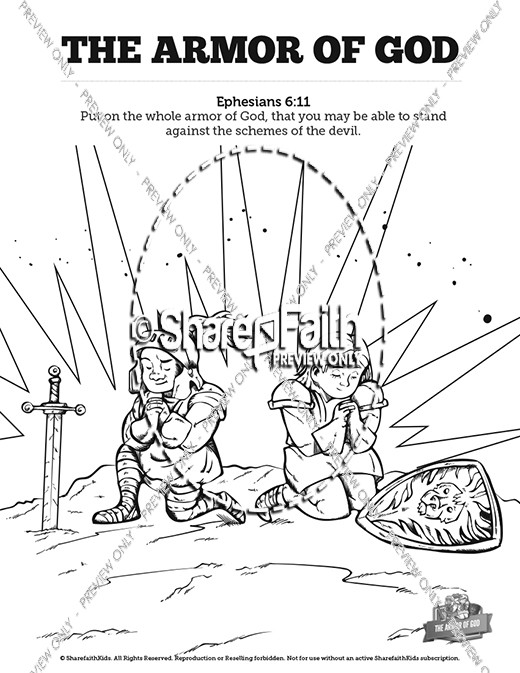 520x673 Ephesians The Armor Of God Sunday School Coloring Pages Sunday