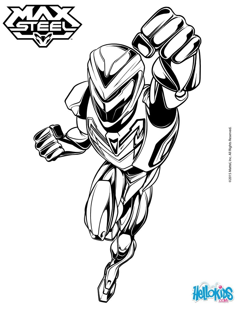 820x1060 Max Steel Coloring Pages