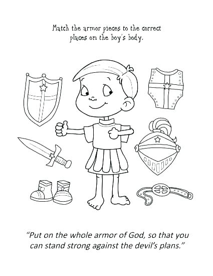 425x550 Armor Of God Activity Coloring Pages Armor Of God Coloring Pages