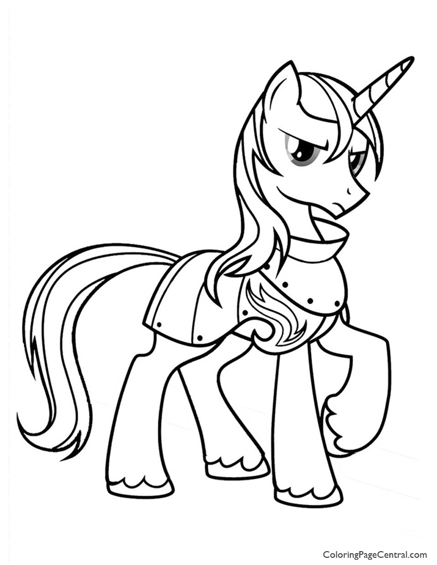 850x1100 My Little Pony Prince Shining Armor Coloring Page Coloring