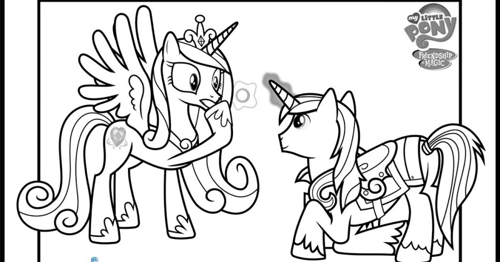 1024x538 Princess Cadence And Shining Armor Coloring Pages