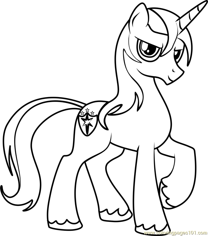 704x800 Shining Armor Coloring Page