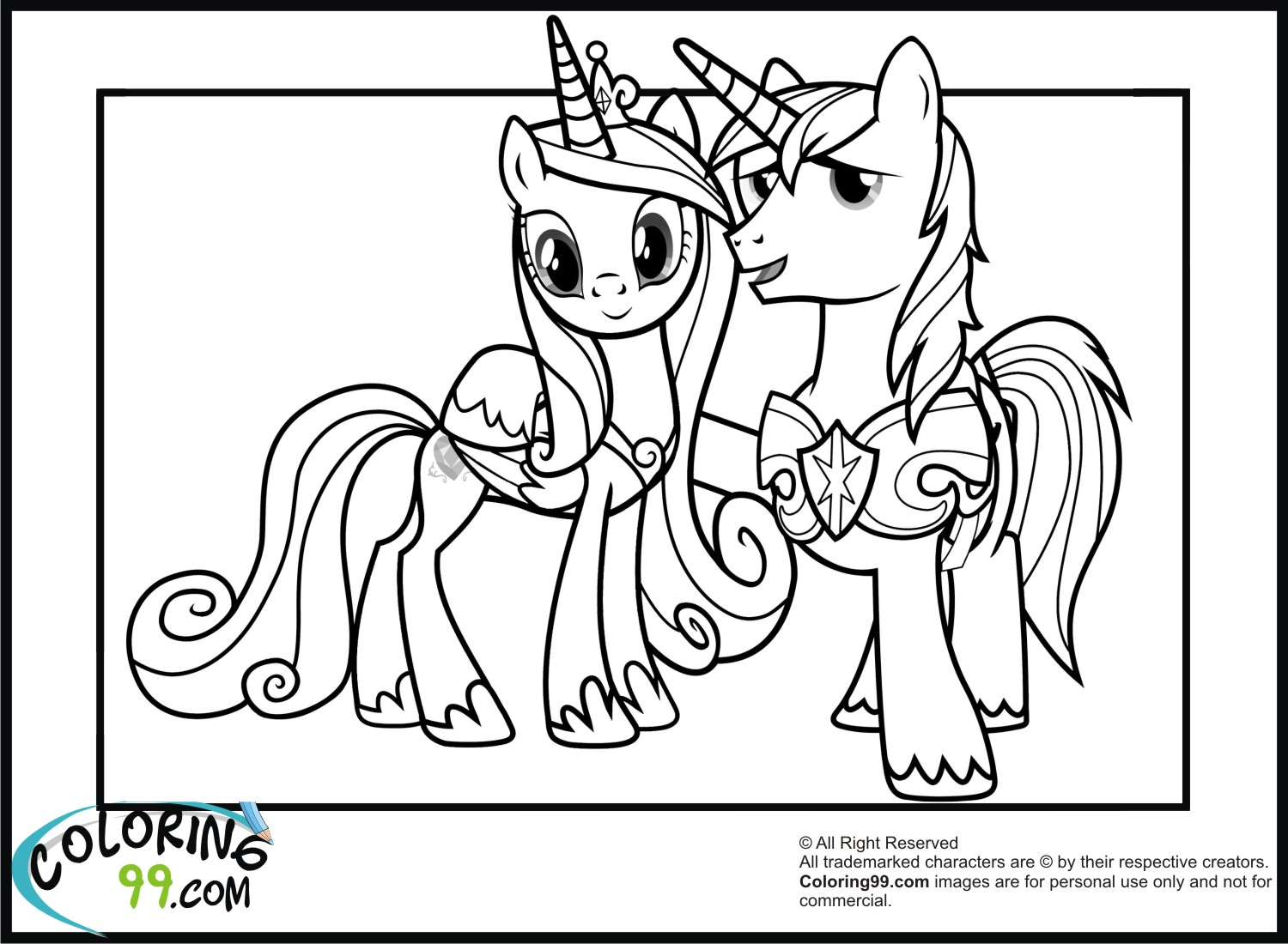 1500x1100 Shining Armor Coloring Pages Team Colors