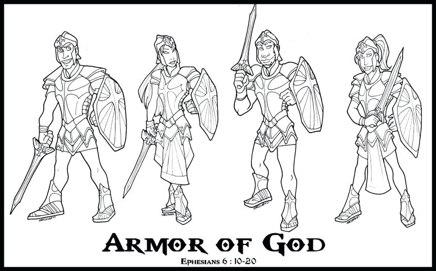 900x559 Armor God Coloring Pages Or Armour God Designs