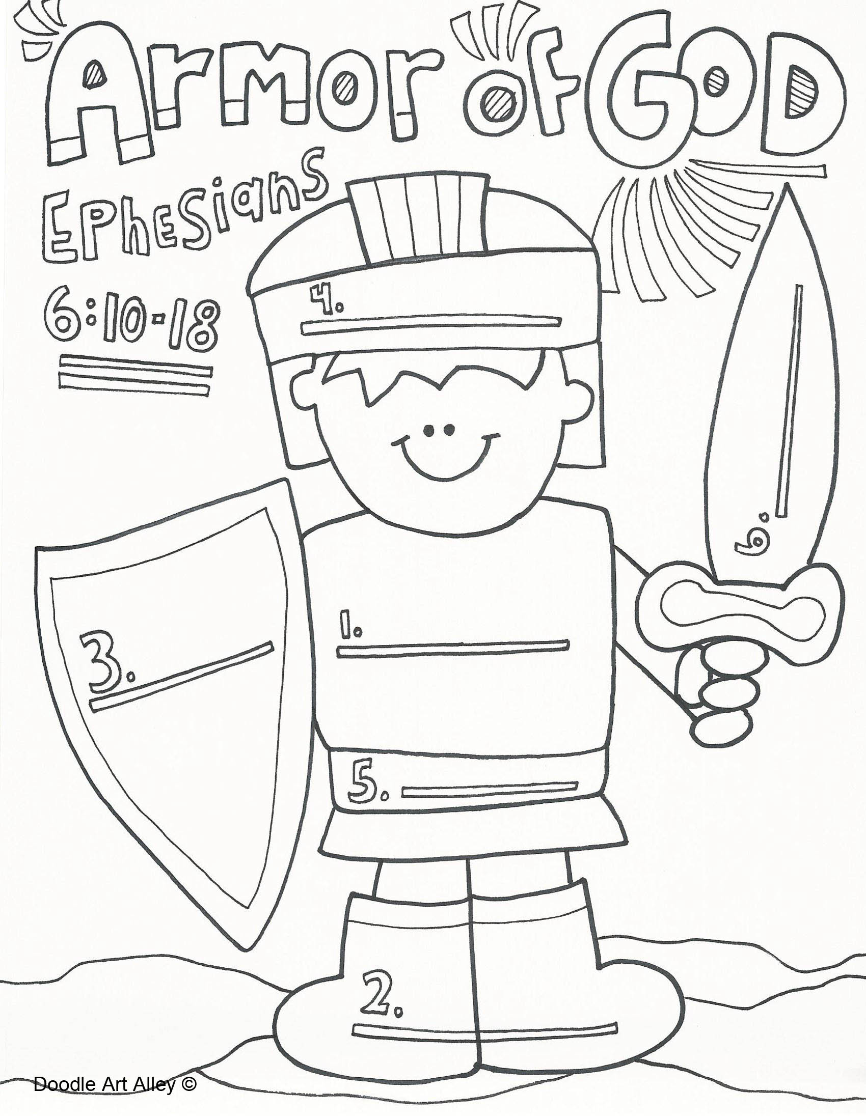 1700x2200 Armor Of God Coloring Pages New Page Gallery