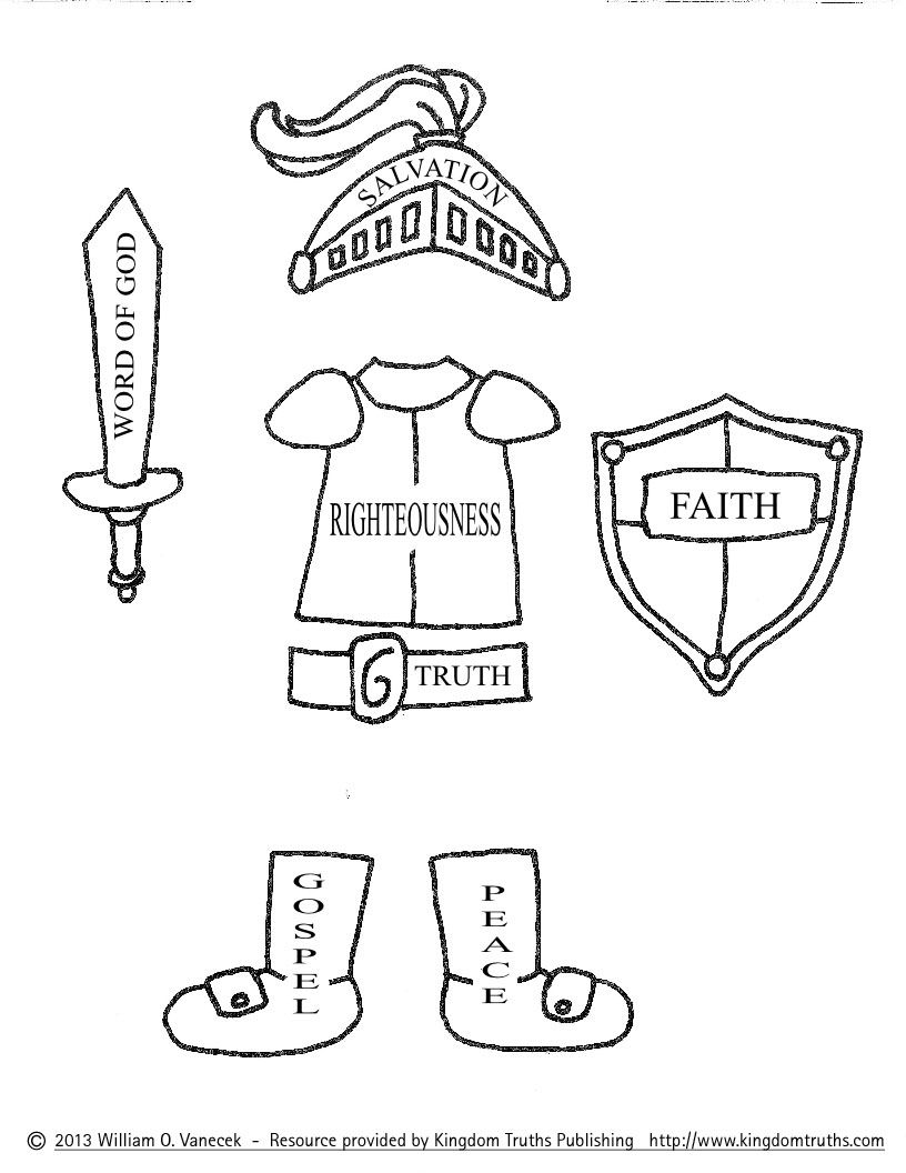 816x1056 Armor Of God Coloring Pages Pictures Imagixs