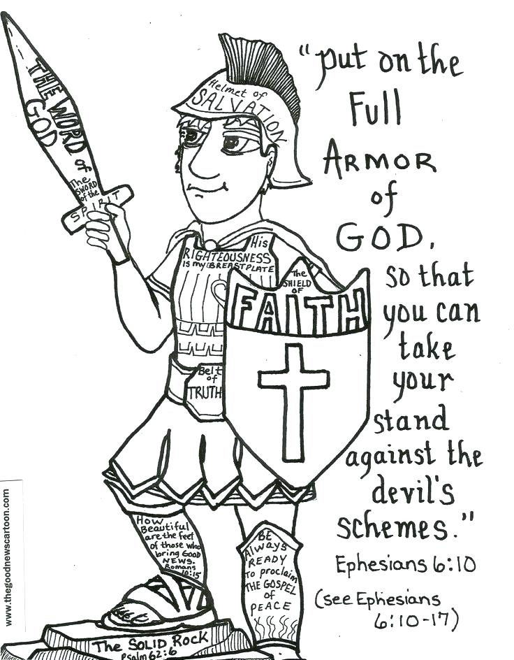 736x944 Armor Of God Coloring Pages To Print Printable Armor Of God