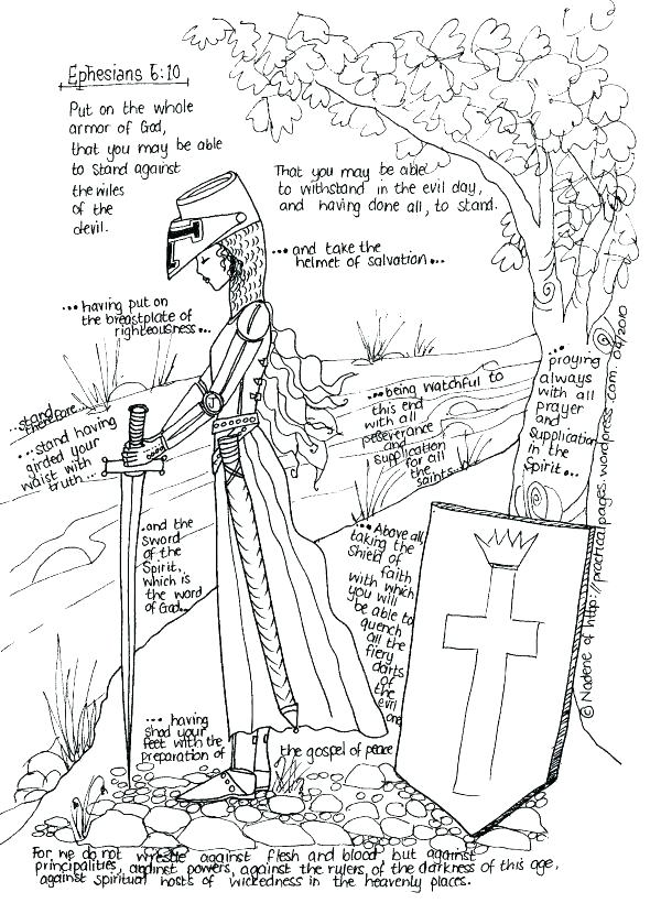 600x820 Armor Of God For Kids Coloring Pages Armor Of God Coloring Pages