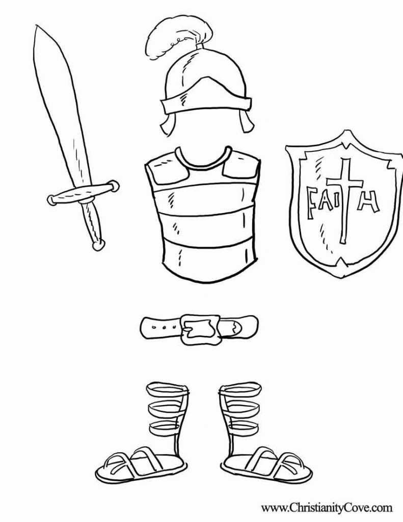 791x1024 Armour Of God Coloring Page