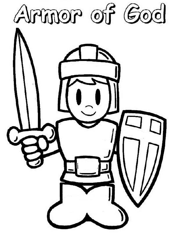 600x812 Armor Of God Coloring Page Vbs