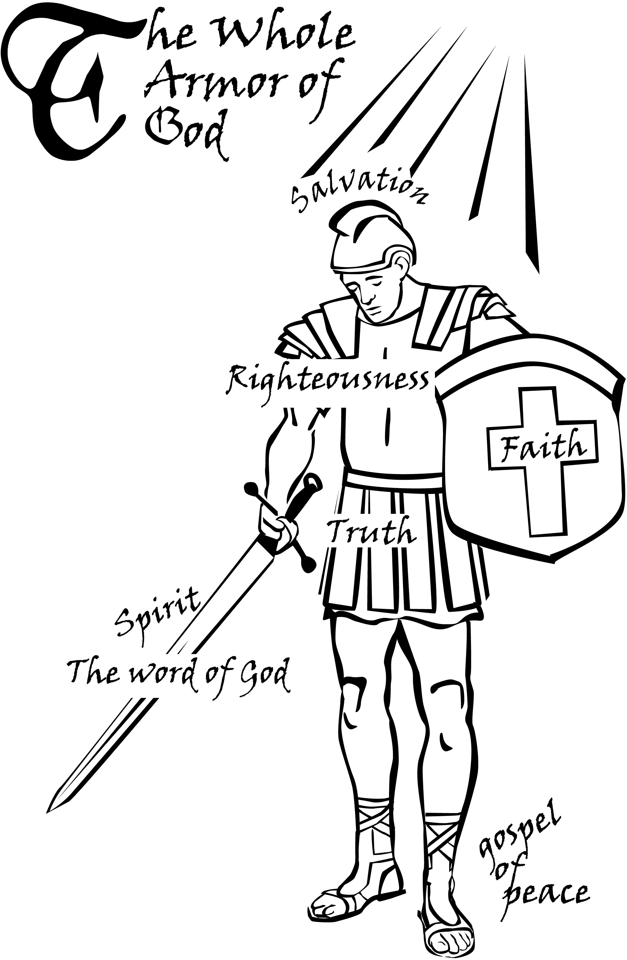 photograph regarding Armor of God Printable known as Armor Of God Coloring Webpages at  Totally free for