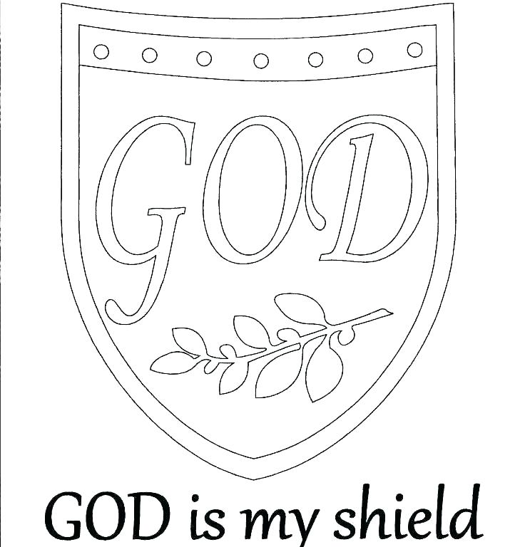 736x768 Armour Of God Coloring Page