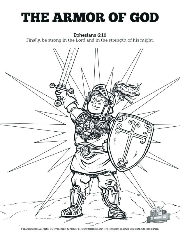 618x800 Armor Of God Coloring Page The Armor Of God School Coloring