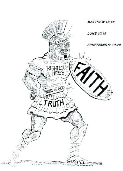 407x565 Armor Of God Coloring Page Shield Of Faith Coloring Page Here Are