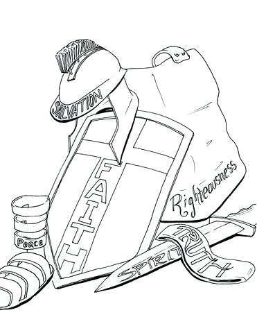 371x480 Armour Of God Colouring Pages Promising The Armor Of God