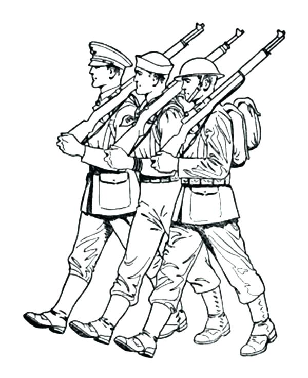 600x734 Army Tank Coloring Page Army Coloring Pages Army An Army March