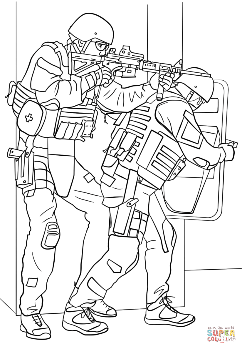 824x1186 Free Printable Army Coloring Pages For Kids Swat Truck Page