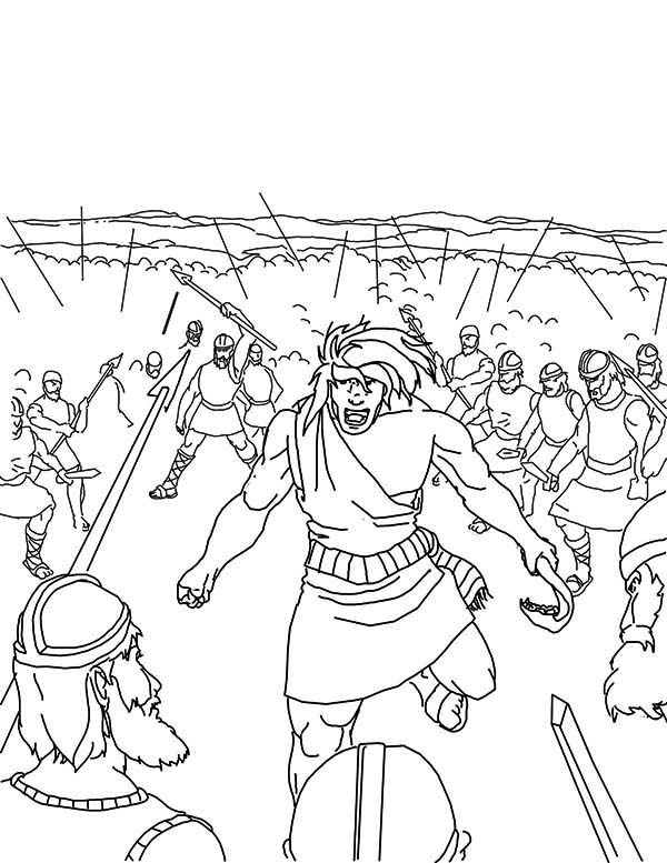 600x777 Samson Slaying Entire Army Coloring Page Color Luna